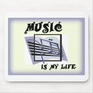 Música mi vida tapetes de ratones
