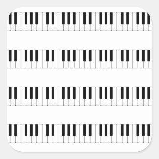 Música: Modelo del teclado de piano Pegatina Cuadrada