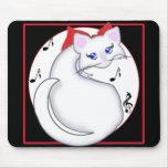 Música Mousepad del gatito de Bianca Toon Alfombrillas De Raton