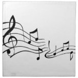 Música (Music) Servilleta Imprimida