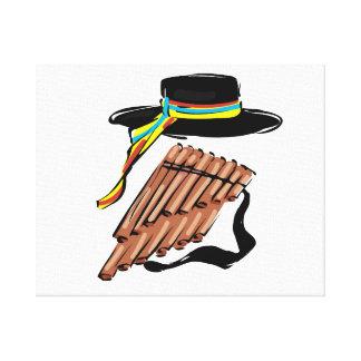 música negra design png de la cinta de la flauta d impresion en lona