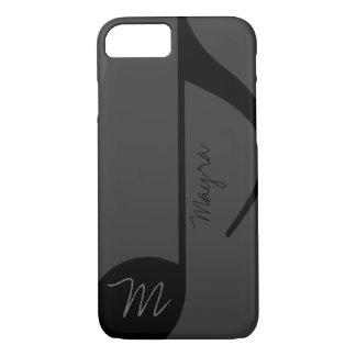 música-nota negra personalizada funda iPhone 7
