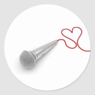Música para el amor pegatina redonda