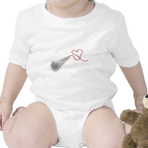 Música para el amor trajes de bebé