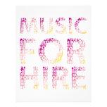 Música para el club del alquiler tarjetas publicitarias