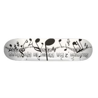 """Música patinadora de 2 DA en mi cubierta principal Patineta 7 1/4"""""""