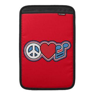 Música patriótica del amor de la paz funda macbook air