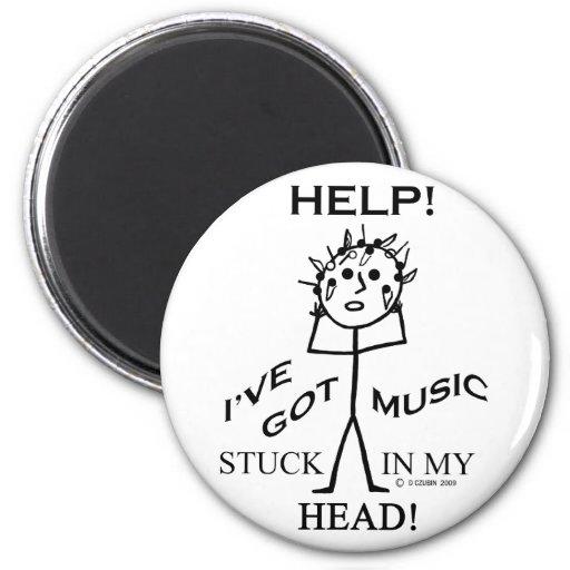 Música pegada en mi cabeza imanes