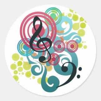 Música Etiquetas Redondas