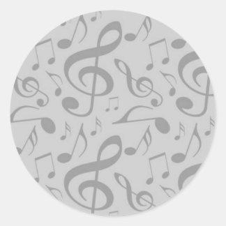 Música Pegatina Redonda