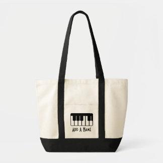Música personalizada Totebag del piano Bolsa Tela Impulso