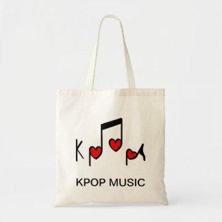¡Música pop del coreano del corazón! Bolsa Tela Barata