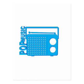 Música pop tarjeta postal