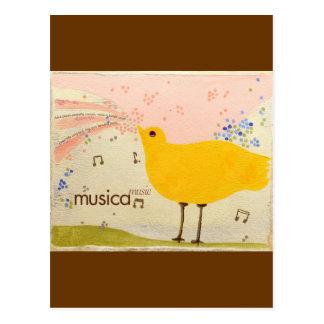musica: postal del bilingüe de la música