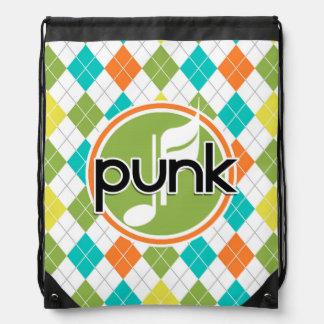 Música punky; Modelo colorido de Argyle Mochila