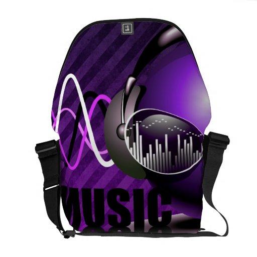 Música que bombea en mis oídos bolsas messenger