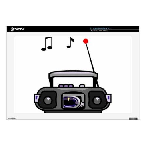 Música que juega de radio del dibujo animado portátil skin