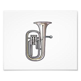 música realistic.png del instrumento de cobre del  fotografía