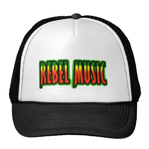 Música rebelde gorros bordados