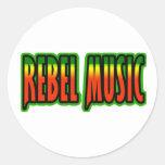 Música rebelde pegatina redonda