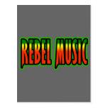 Música rebelde postal