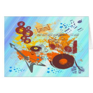 Música retra de los años 80 tarjeta de felicitación