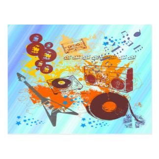 Música retra de los años 80 tarjeta postal