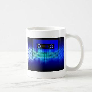 Música retra taza de café