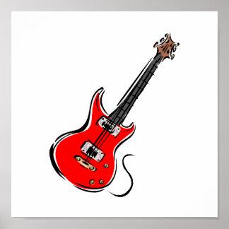 música roja graphic.png de la guitarra eléctrica impresiones