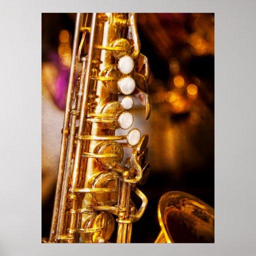 Música - saxofón - jazz dulce póster