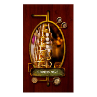Música - saxofón - jazz dulce tarjetas de visita