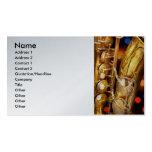 Música - saxofón - muy saxxy tarjetas de visita