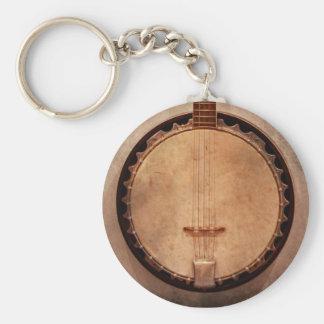 Música - secuencia - banjo llavero redondo tipo pin