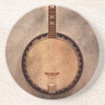 Música - secuencia - banjo posavaso para bebida