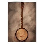 Música - secuencia - banjo tarjeta