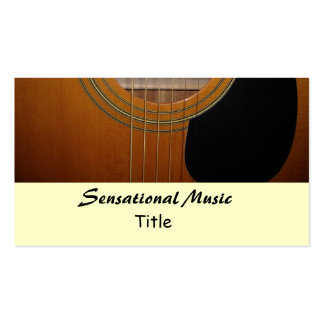 Música sensacional de las guitarras tarjetas de visita