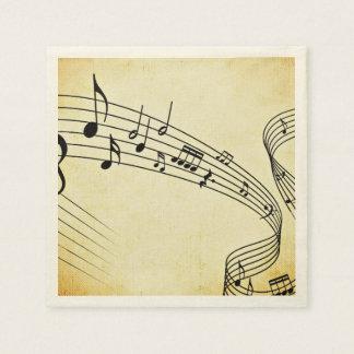 Música Servilletas De Papel