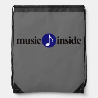 música simple dentro de la nota musical mochila