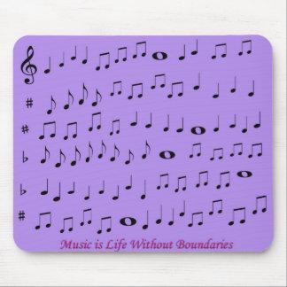 Música sin el cojín de ratón de los límites alfombrillas de ratón