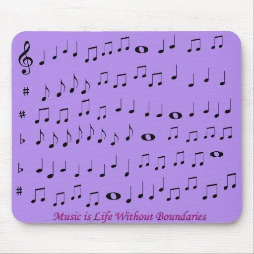 música sin mousepad de los límites alfombrilla de raton