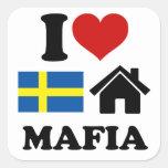 Música sueca de la casa calcomania cuadradas personalizadas