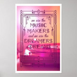 Música, sueños, y memorias póster