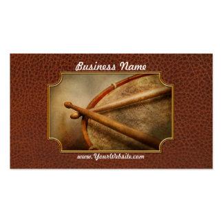 Música - tambor - cadencia plantilla de tarjeta personal