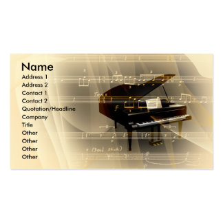 música tarjetas de visita