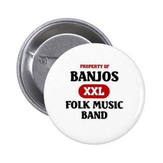 Música tradicional de los banjos pin