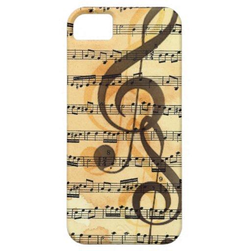 Música triplicada iPhone 5 funda