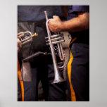 Música - trompeta - banda de la policía posters