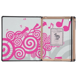 Música vibrante iPad funda