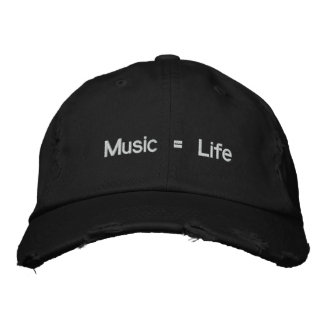 Música = vida gorras bordadas