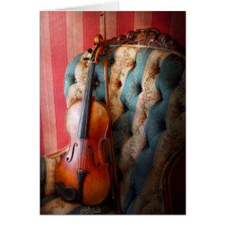 Música - violín - elegancia musical tarjetón
